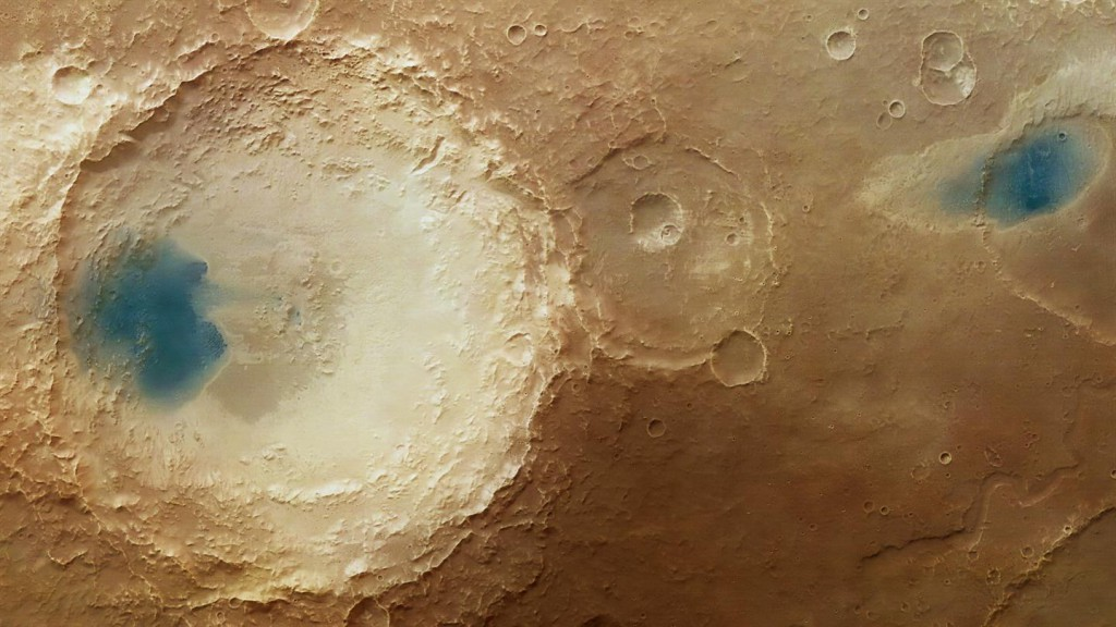 Mars, region Arabia Terra - Czy na marsie jest woda?