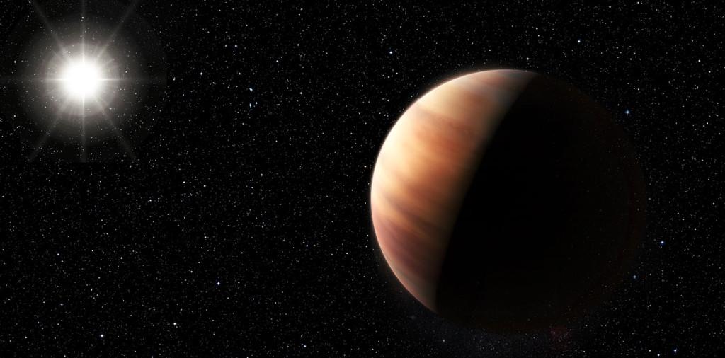 Artystyczna wizja bliźniaka Jowisza orbitującego wokół HIP 11915